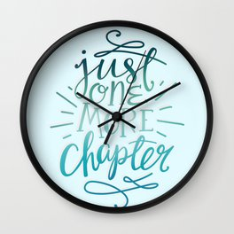 Book Worm One More Chapter Wall Clock
