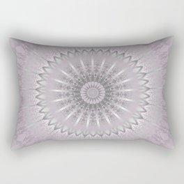 Mauve Silver Mandala Rectangular Pillow