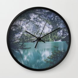 Pragser Wildsee lake Italy Wall Clock