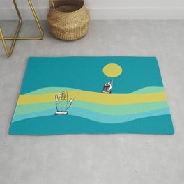 Please notice this!  - Simple Surreal Illustration  Rug