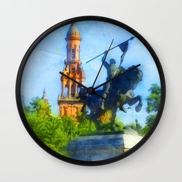 Seville, the colorful streets of Spain Wall Clock