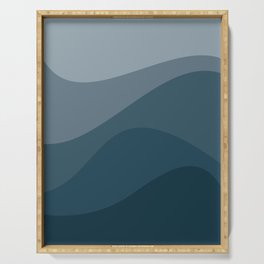 Abstract Color Waves - Blue Palette Serving Tray