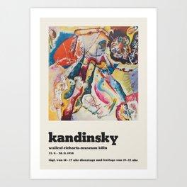 Wassily Kandinsky - Exhibition poster Art Print