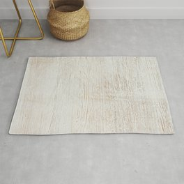 White vintage wood Rug