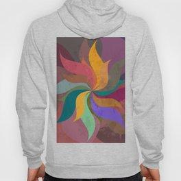 Pinwheel Grungy Abstract Design Hoody