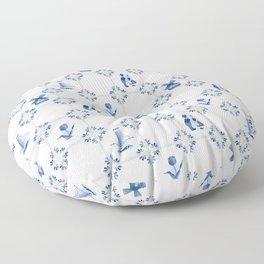 Delft Blue Holland Pottery Floor Pillow