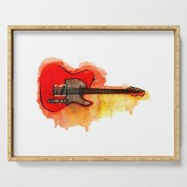 Watercolor guitar Serving Tray
