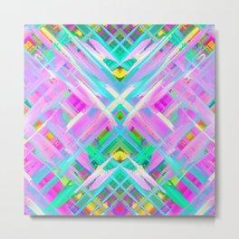 Colorful digital art splashing G473 Metal Print