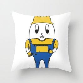 Bricklayer Egg Throw Pillow