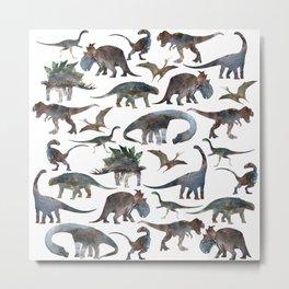 New Dinosaurs pattern Metal Print