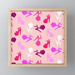 Pole dance shoes Framed Mini Art Print