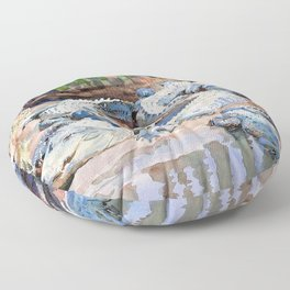 John Singer Sargent - Muddy Alligators - Digital Remastered Edition Floor Pillow