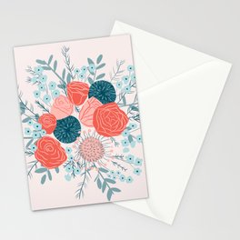 Muted florals Stationery Cards