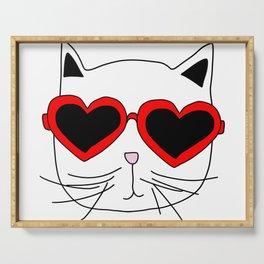Cat Heart Sunglasses Serving Tray