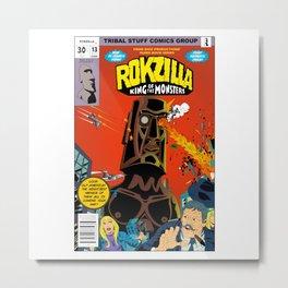 Rokzilla-King of Monster Metal Print