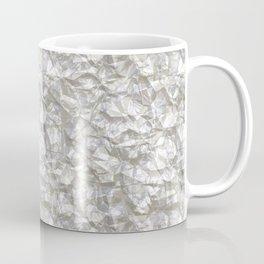 Cool Silver Aluminium Foil Texture Coffee Mug
