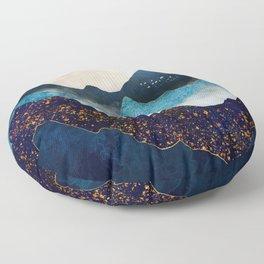Indigo Peaks Floor Pillow