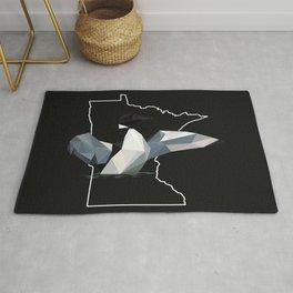 Minnesota - Common Loon (Black) Rug