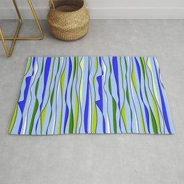 Sea wave stripes pattern Rug