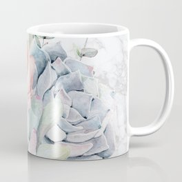 Pretty Succulents on Marble by Nature Magick Coffee Mug