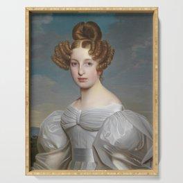 Portrait of Elise Dorothea Friederike by Ernst Thelott Serving Tray