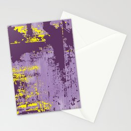 Grunge Paint Flaking Paint Dried Paint Peeling Paint Purple Yellow Lavender Stationery Cards