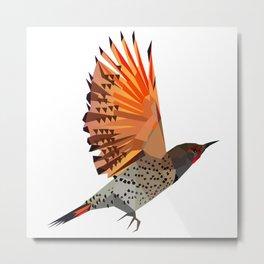 Flying bird Flicker Geometric Nature Metal Print