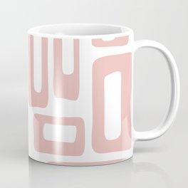 Retro Mid Century Modern Abstract Pattern 336 Dusty Rose Coffee Mug