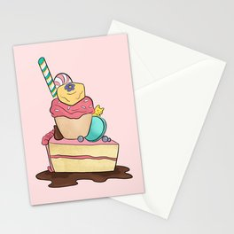 Sweets Tower Stationery Cards
