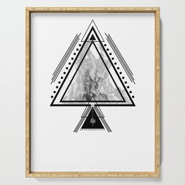 Wiccan Fire Element Symbol Pagan Witchcraft Triangle Serving Tray