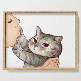 cat : hmmmmm! Serving Tray