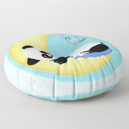 Baby Panda Boy Floor Pillow