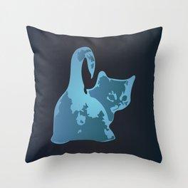 Cat Blues Throw Pillow