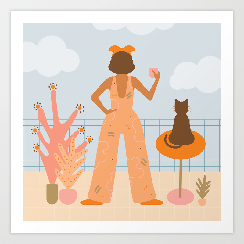 You, Me & A Cup Of Tea Art Print by Frenchandpenny PRN6523384