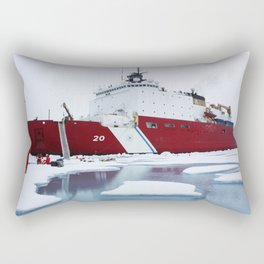 The US Coast Guard Cutter Healy parked in an ice floe for the 2011 ICESCAPE missions third ice stati Rectangular Pillow