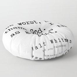 9    | Walt Whitman Quotes | 190803 Floor Pillow