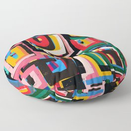 Neo Cubism Abstract Art Pattern Mystic Floor Pillow
