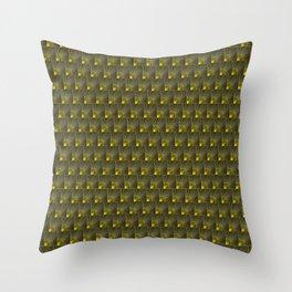 Sunburst Sunrise Gold & Silver Art Deco Black Design Pattern Throw Pillow
