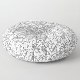 Line Topography Floor Pillow