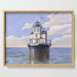 Fourteen Foot Bank Lighthouse, Delaware Serving Tray