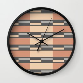 Geometric rhythms Wall Clock