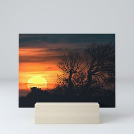 Sunset at Nature Landscape Scene Mini Art Print