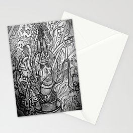 man on the dab Stationery Cards