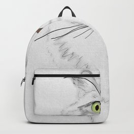 Green Eyed Greedy Cat Backpack
