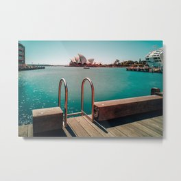 Sydney Poolside Metal Print