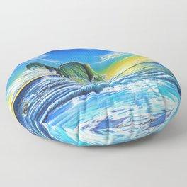 Ascending Tides Floor Pillow