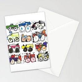 Monster Truck Kid Art by Tucker Stationery Cards