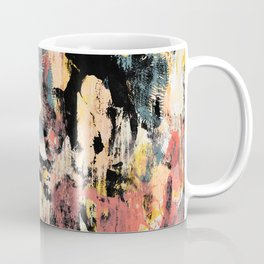 001.3: a vibrant abstract design in black yellow and pink by Alyssa Hamilton Art  Coffee Mug
