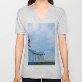 Church and Sea Unisex V-Neck