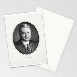 President Herbert Hoover Engraving Stationery Cards